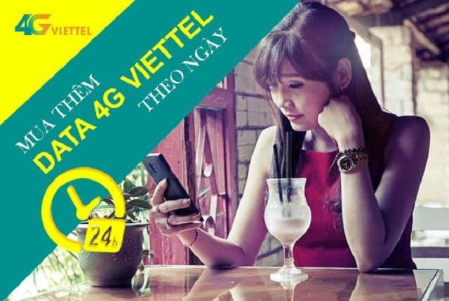 Các gói mua thêm dung lượng 4G Viettel theo ngày – giờ