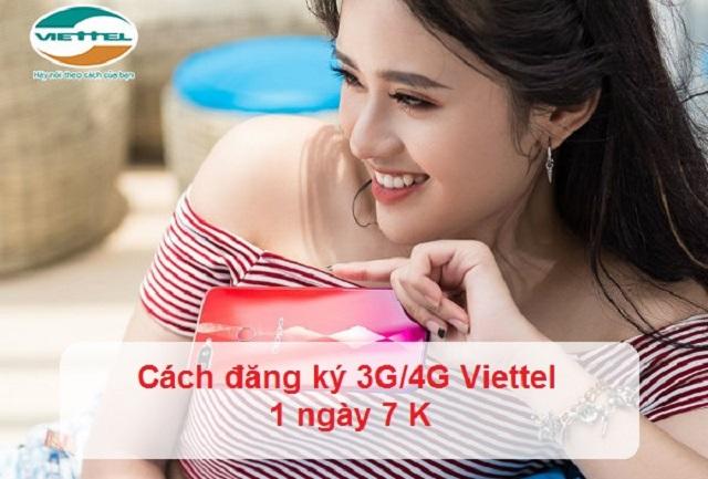 Cách đăng ký 3G/4G Viettel