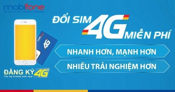 Việc thay sim 4G có thể được phục vụ tại nhà